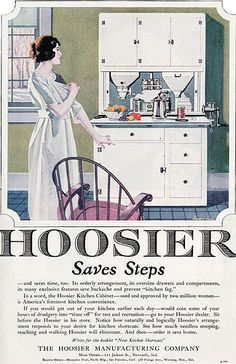 1921 Hoosier Cabinet Ad by American Vintage Home, via Flickr