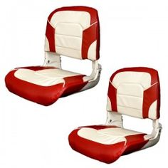 Classic red/white folding #fishing #boat seats. $149/pair.
