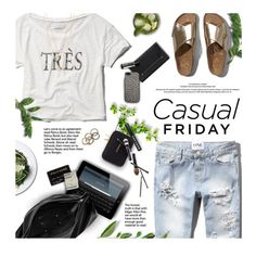 """Casual Friday"" by kearalachelle ❤ liked on Polyvore featuring Abercrombie & Fitch, Maison Margiela, Gorjana, Jack Spade, Guide London, Rachel Leigh, Vince Camuto, Tarxia, Aesop and casual"