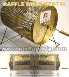 Raffle drum rental in Montreal! Prize Wheel, Raffle Tickets, Casino Theme, Drums, Party Supplies, Montreal, Party Party, Drum, Drum Kit