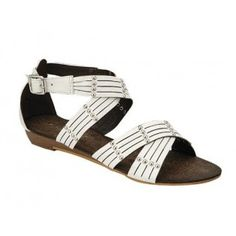 AMPLY-1 Women Ankle Strap Sandals - White