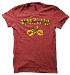 Bike Maryland T-shirt – Pedal Pushers Club