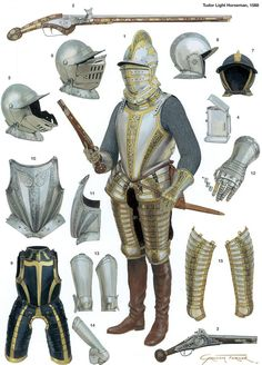 "cuirassier: ""Tudor light horseman, 1588, by Graham Turner """