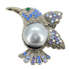 Stunning Large Bright Toucan Bird Diamante Brooch Pin New Great Gift Profit Small Costume Jewellery