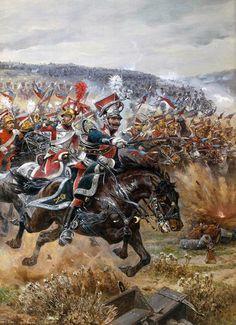La dernière attaque Poniatowski à Leipzig, le 19 Octobre, 1813   Richard Caton Woodville