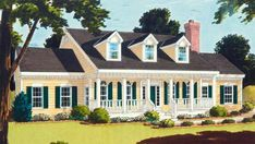 Country Plan: 1,990 Square Feet, 3 Bedrooms, 2.5 Bathrooms - 033-00025