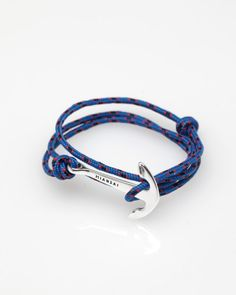 anchor bracelet - want leather instead of string/rope
