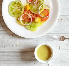 Sherry Shallot Vinaigrette - made with shallots and dijon mustard Recetas Vitamix, Vitamix Recipes, Blender Recipes, Raw Food Recipes, Food Network Recipes, Salad Recipes, Cooking Recipes, Healthy Recipes, Vitamix Blender