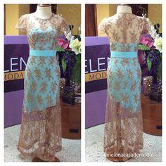 Clase y distinción con cada diseño... Vestido diseñado y confeccionado para la Sra. Cecilia Ulloa Balcazar.