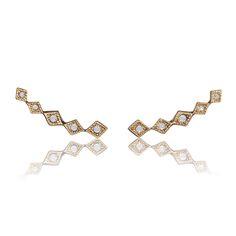 DIAMOND KITE CRAWLER GOLD - LUV AJ http://www.thedarkhorse.com.au/shopping/EARRINGS/DIAMOND-KITE-CRAWLER-GOLD---LUV-AJ