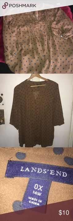 Lands end pin tuck blouse In beautiful condition. Wore 2 times. Lands' End Tops Blouses
