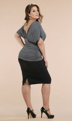 Got curves?!    Plus size black pencil skirt kiyonna