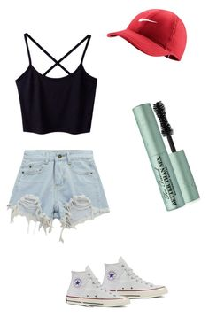 """""""Lazy day"""" by meggrace04 on Polyvore featuring Converse, Chicnova Fashion, NIKE and Too Faced Cosmetics"""