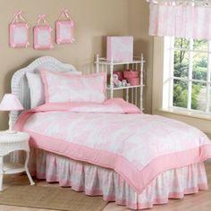 Sweet Jojo Designs Toile Bedding Set in Pink - BedBathandBeyond.com