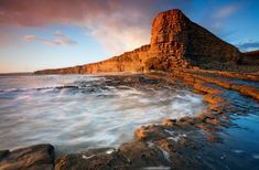 Welsh gold: Nash Point, part of the Glamorgan Heritage Coast, looks especially mystical in this photograph