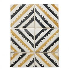"RedBank Decorative Field Tile Sawtooth 6"" x 6"" — Products 
