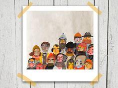 Huelga lámina 8 x 8 ilustración - venta Imprimir - comprar 2 obtener 1 gratis