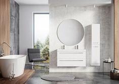 Kwadro Plus Collection na tablicy Bathroom Furniture. Meble Łazienkowe Mirror, Bathroom, Furniture, Design, Home Decor, Washroom, Decoration Home, Room Decor, Mirrors