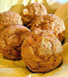 Rice Bran Oil Carrot Muffins