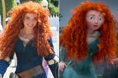 """See why I wish my hair was long. / The curly red-haired Princess Merida in real-life. She is the latest Disney princess from the Disney/Pixar's """"Brave"""". Incredible real-life Disney princesses / Kristine Ambrosio On Fuseink Funny People Pictures, Really Funny Pictures, Funny Pics, Amazing Cosplay, Best Cosplay, Cosplay Legal, Humor Disney, Funny Disney, Official Disney Princesses"""