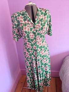 CC41 Utility WW2 Rare and beautiful Women's day dress | eBay