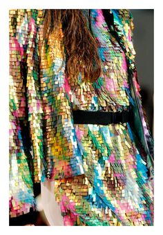 A #Sequined Multi-Colour #Metallic Dress