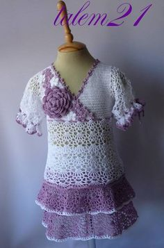 Lovely Lavender Crochet Dress