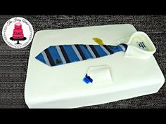Father's Day Neck Tie And Shirt Cake - How To With The Icing Artist And Pink Cake Princess - YouTube