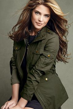 Ashley Greene and Mark. Photograph mark In The Trenches Jacket Ashley Green, Nikki Reed, Kristen Stewart, Great Women, Beautiful Women, Die Twilight Saga, Minka Kelly, Trench Jacket, Actress Photos