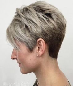 Short lob hairstyle