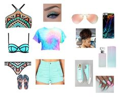 """""""Aztec Beach"""" by neice-09 on Polyvore featuring Seafolly, Ray-Ban, Forever 21, Converse and Calvin Klein"""
