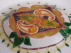 Hand Painted Glass Plate with Mandala by Anumvella on Etsy