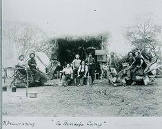 Gold prospectors and camels Bendigo camp 1851