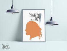 ygritte Game of Thrones   Wall Art Print Instant Download
