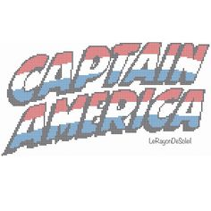 Captain America modern cross stitch pattern door LeRayonDeSoleil