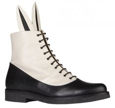 BUSTER SPADES BLACK-CREAM LEATHER RUBBER SOLE