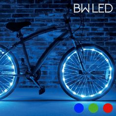 LED Waterproof Light Tube for Bike Bicycle Wheels Pack of 2 Safety Lights Led Fluorescent, Kids Bike, The Darkest, Cool Things To Buy, Safety, Lights, Gadgets, Fitness, Kiosk