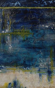 """Painting:  """"Azure"""" painting by Howard; part of IO Metro's Local Art collection, in which 10 percent of the proceeds go to the artist who created the piece"""