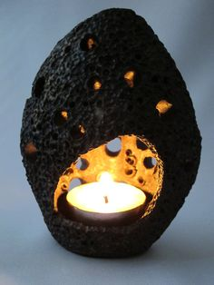 Votive Candle Holder Ceramic Lantern Tea Light by EarthXFire