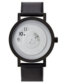 Projects Watches' Reveal Watch is designed by computer graphics pioneer Daniel Will-Harris. This timekeeper reveals the current through a looking glass. Modern Watches, Luxury Watches, Cool Watches, Watches For Men, Black Watches, Stylish Watches, Wrist Watches, Swatch, Army Watches