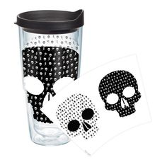Tervis Tumbler On Trend Black And White Skulls 24 Oz. Tumbler with Lid