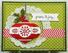 Stampin' Up! Christmas Bauble, colored with Blendabilities.
