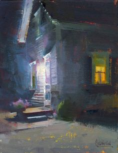 Jennifer McChristian - Leave the Light On (9x7 inches, oil)