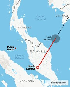 Map: Malaysia Airlines Flight 370 - CNN.com