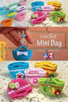 Crochet Miniature Bag Video Tutorial - Crocheted World