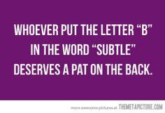 Subtle letter