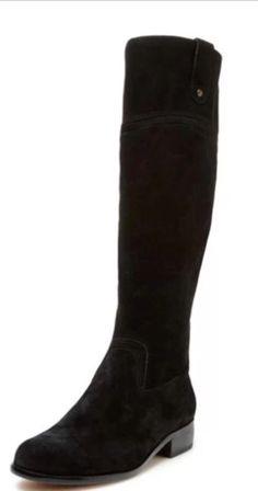 Corso Como Stamford Knee High Riding Boot Black Suede Size 9 #CorsoComo #RidingEquestrian