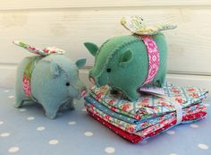 Flying Pigs | Created with Angel Pigs Pattern from Bustle & … | Bustle & Sew | Flickr