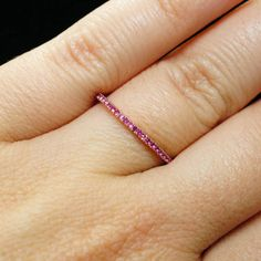 Ruby Wedding Band or Anniversary Band set in a 14k Rose Gold