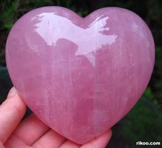 Rose Quartz Crystal | Pink Rose Quartz Rock Crystal Carved Heart